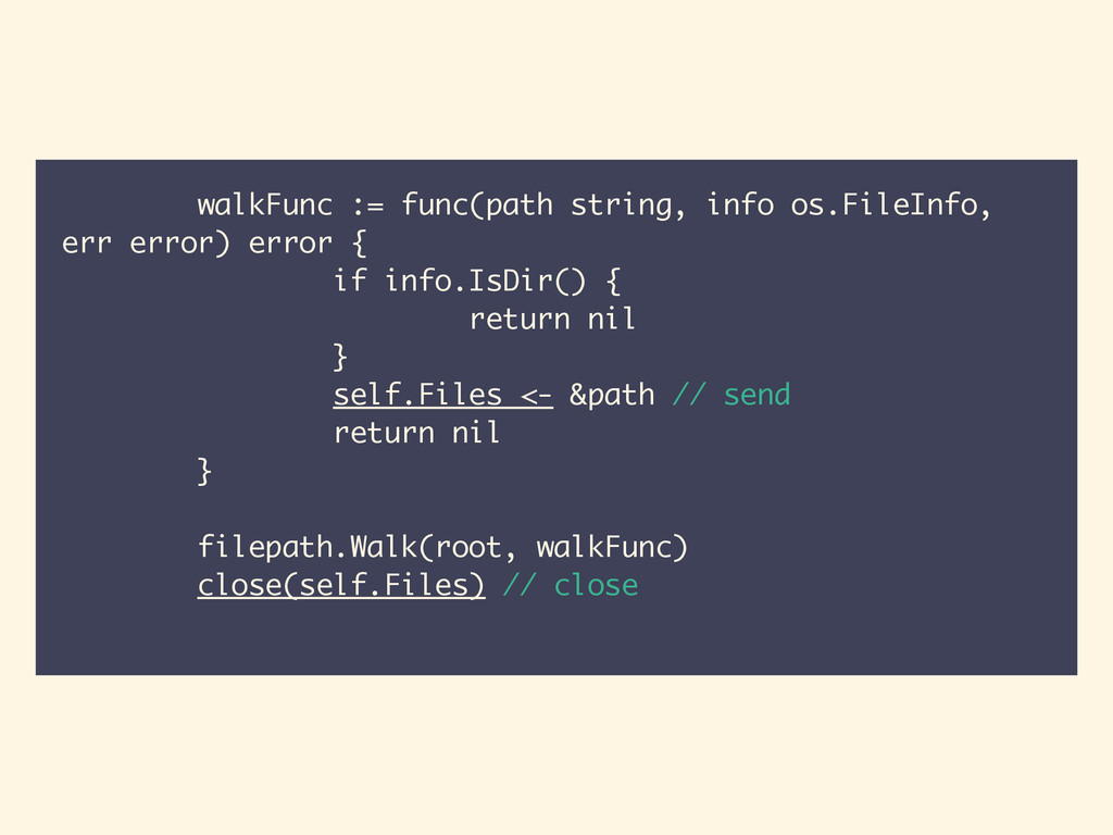 walkFunc := func(path string, info os.FileInfo,...