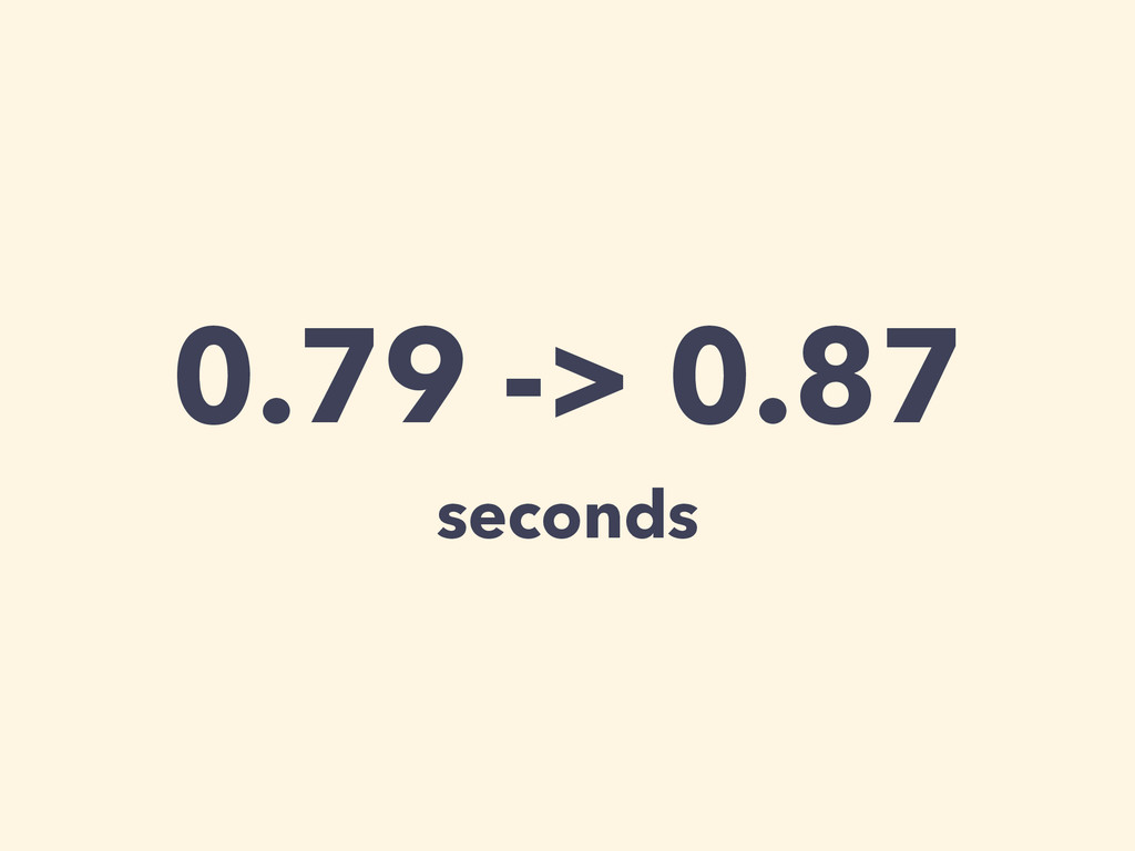 0.79 -> 0.87 seconds