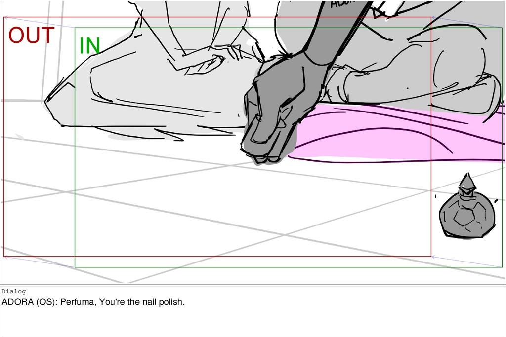 Dialog ADORA (OS): Perfuma, You're the nail pol...