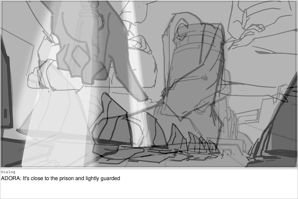Dialog ADORA: It's close to the prison and ligh...