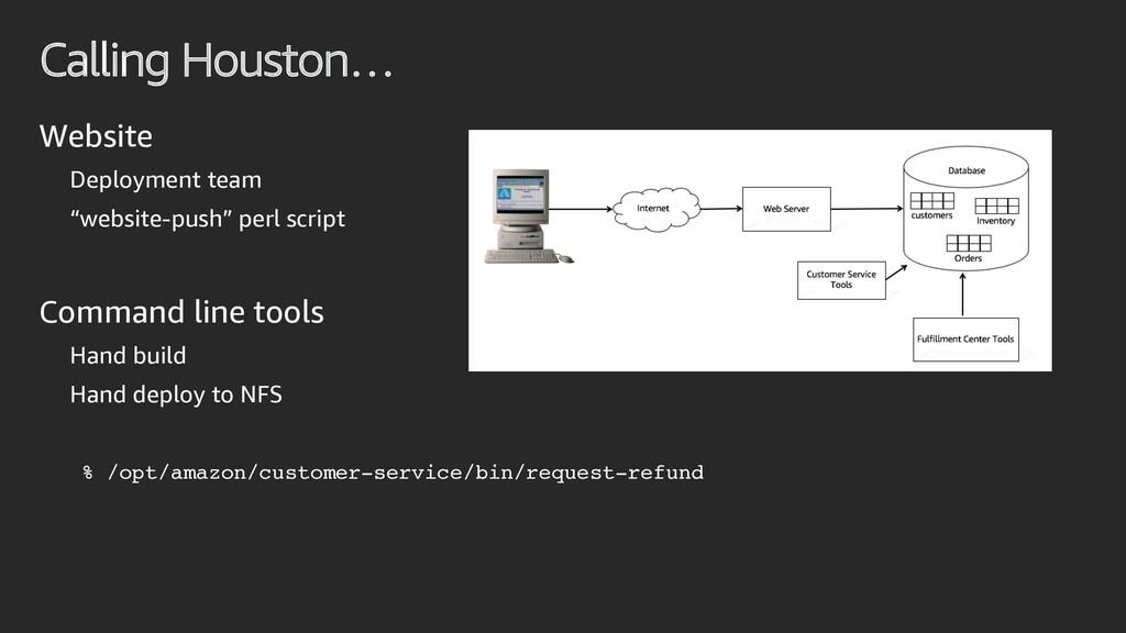 "Calling Houston… Website Deployment team ""websi..."