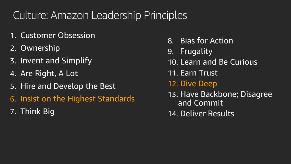 Culture: Amazon Leadership Principles 1. Custom...