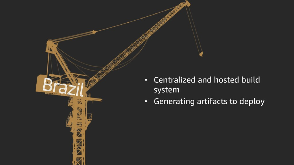 • Centralized and hosted build system • Generat...