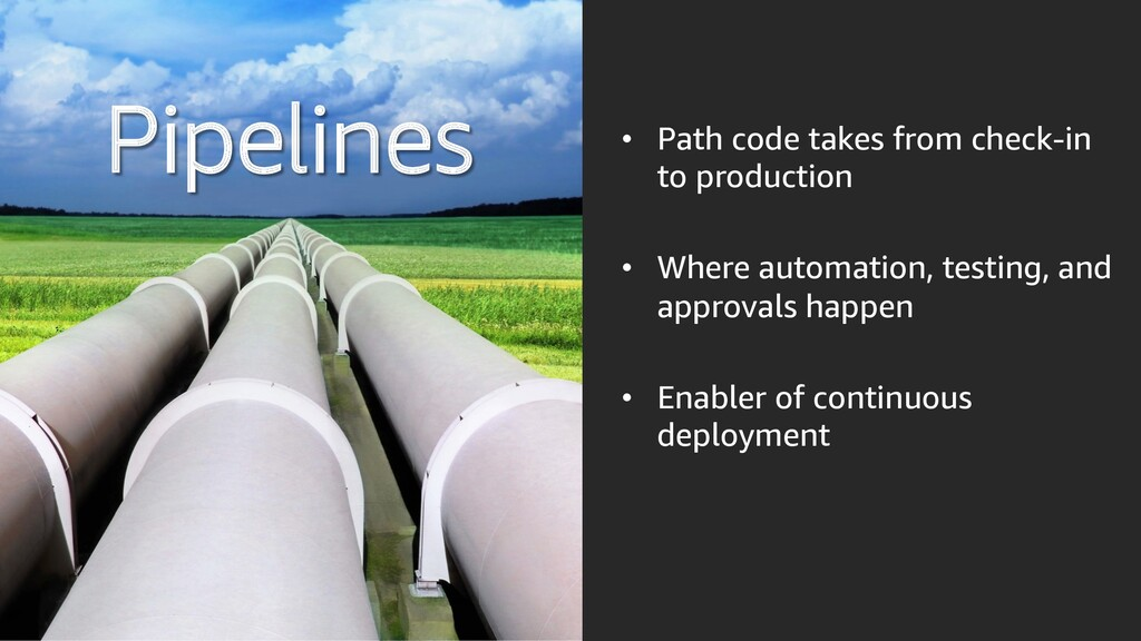 Pipelines • Path code takes from check-in to pr...