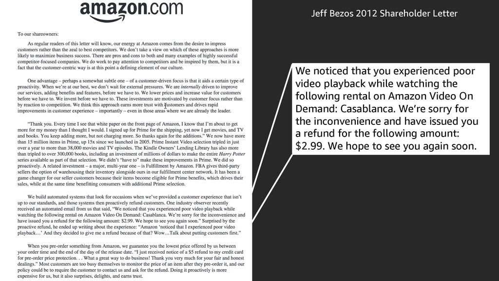 Jeff Bezos 2012 Shareholder Letter We noticed t...