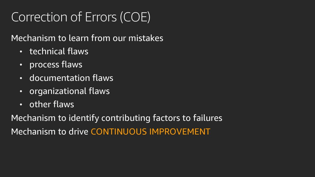 Correction of Errors (COE) Mechanism to learn f...