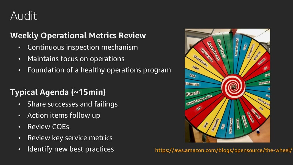 Audit Weekly Operational Metrics Review • Conti...