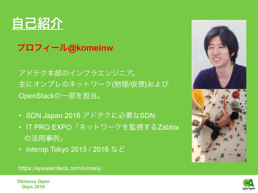 ࣗݾհ Okinawa Open Days 2016 ΞυςΫຊ෦ͷΠϯϑϥΤϯδχΞɻ ओ...