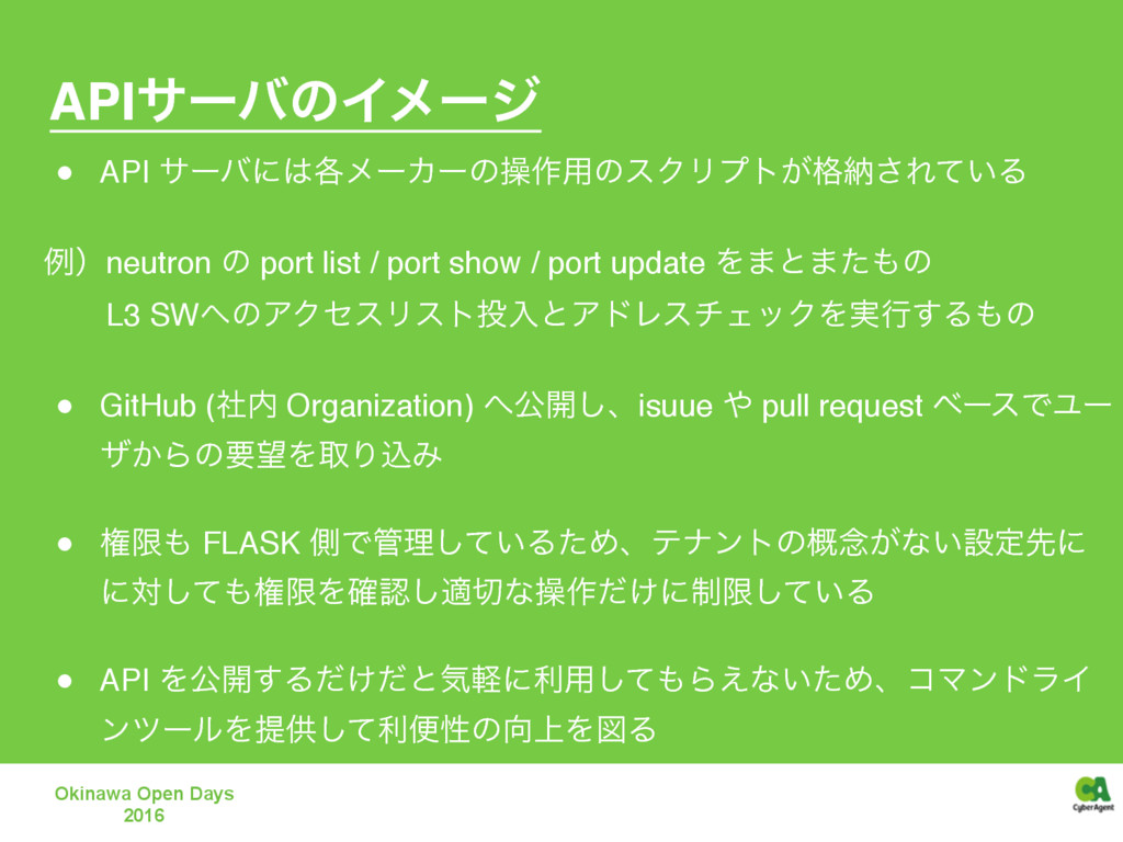 "APIαʔόͷΠϝʔδ "" API αʔόʹ֤ϝʔΧʔͷૢ࡞༻ͷεΫϦϓτ͕֨ೲ͞Ε͍ͯΔ ..."