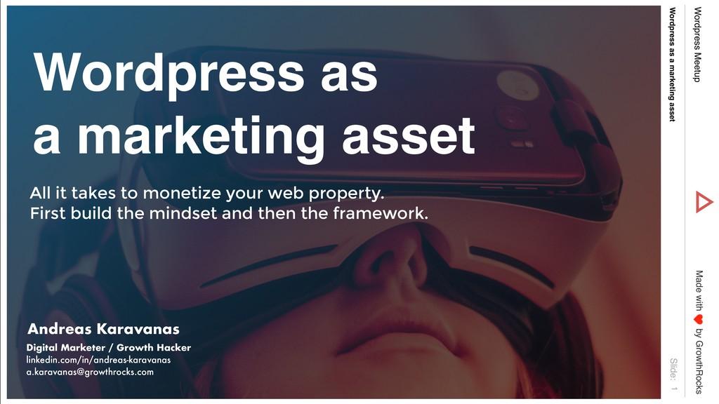 Slide: Made with by GrowthRocks Wordpress Meetu...