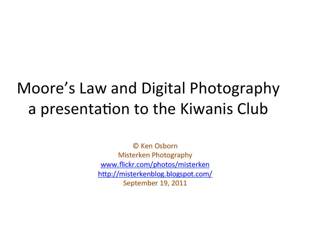 Moore's	