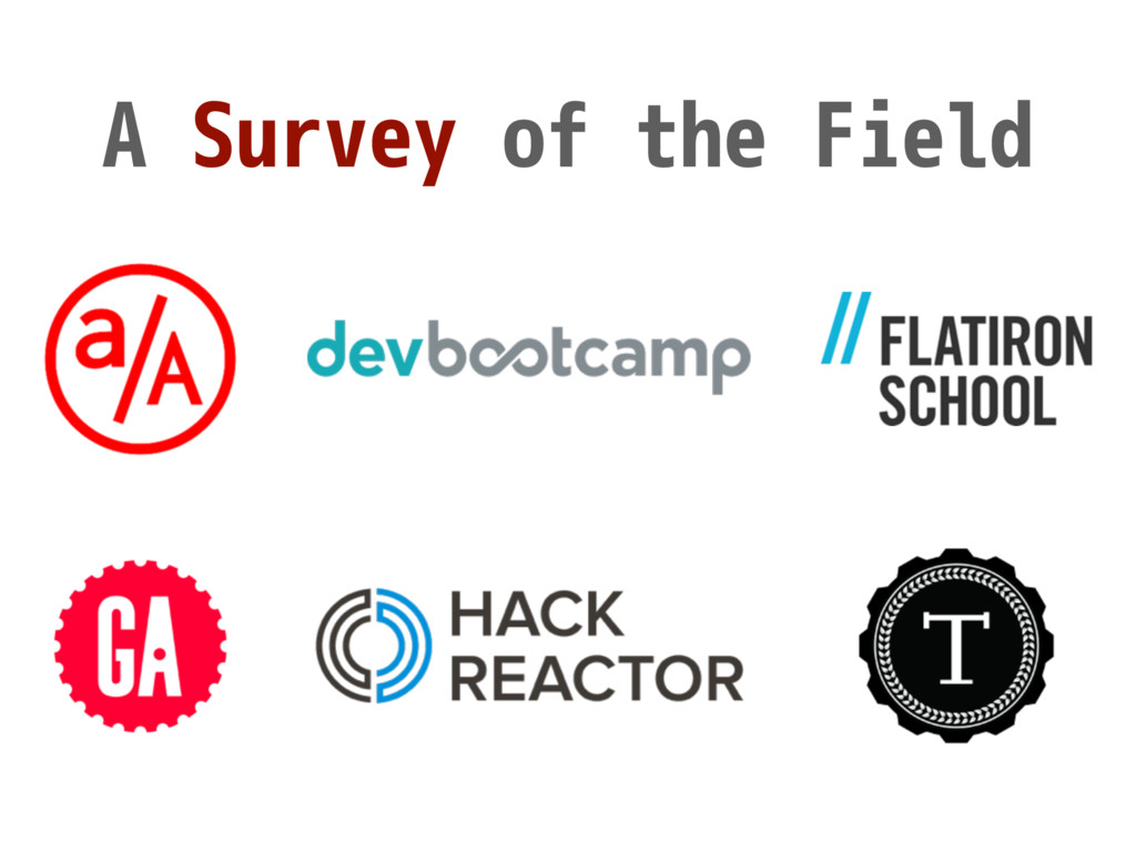 A Survey of the Field