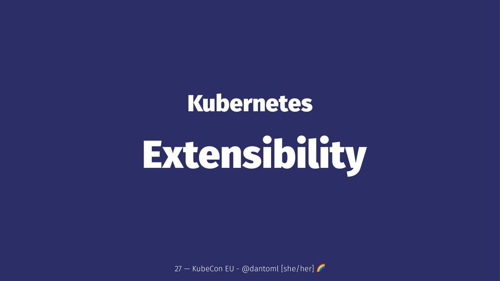Kubernetes Extensibility 27 — KubeCon EU - @dan...