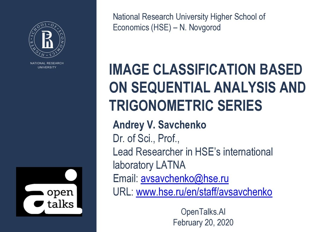 IMAGE CLASSIFICATION BASED ON SEQUENTIAL ANALYS...