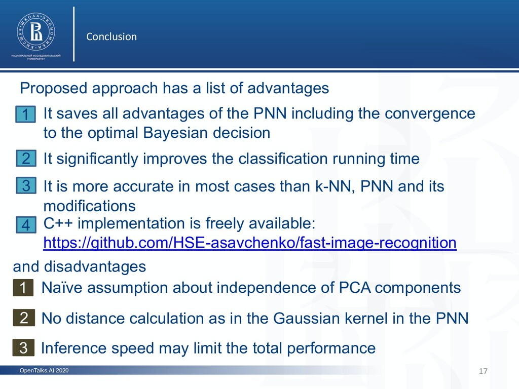 Conclusion 17 OpenTalks.AI 2020 and disadvantag...