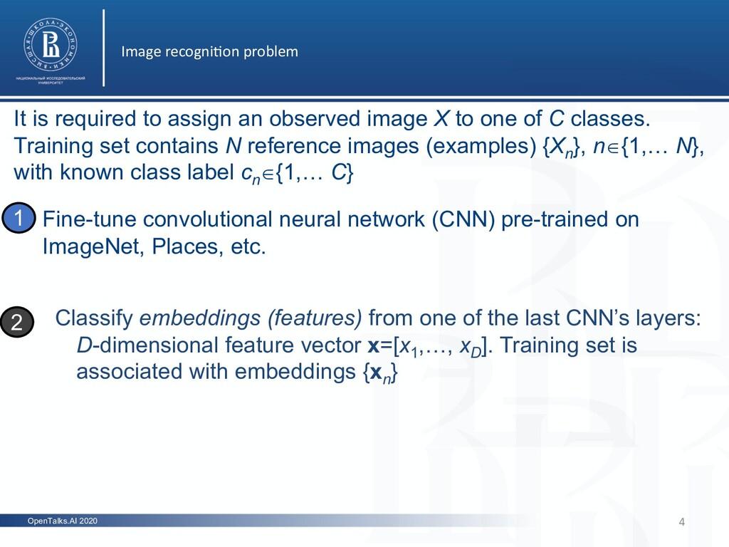 OpenTalks.AI 2020 Image recogni5on problem 4 Fi...