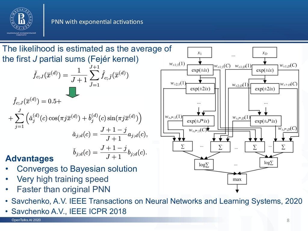 OpenTalks.AI 2020 PNN with exponen5al ac5va5ons...