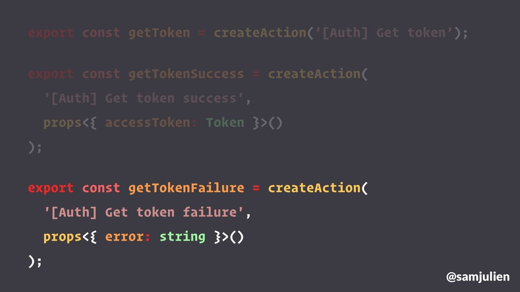 export const getToken = createAction('[Auth] Ge...