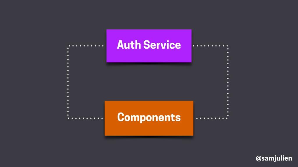 Auth Service Components @samjulien