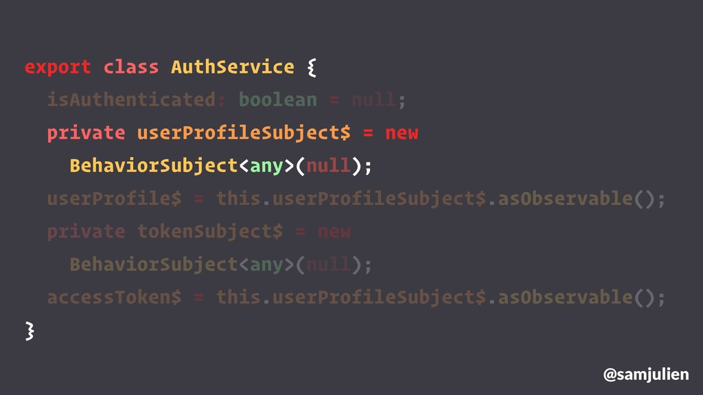 export class AuthService { isAuthenticated: boo...