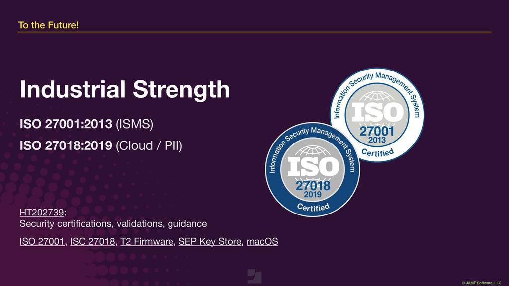 © JAMF Software, LLC HT202739: Security certifi...