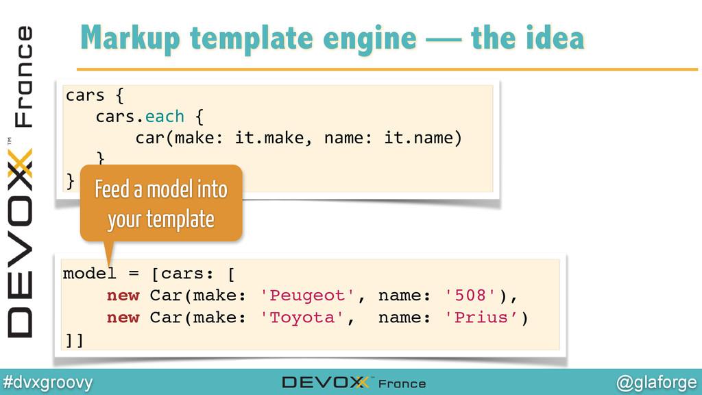 @glaforge #dvxgroovy Markup template engine — t...