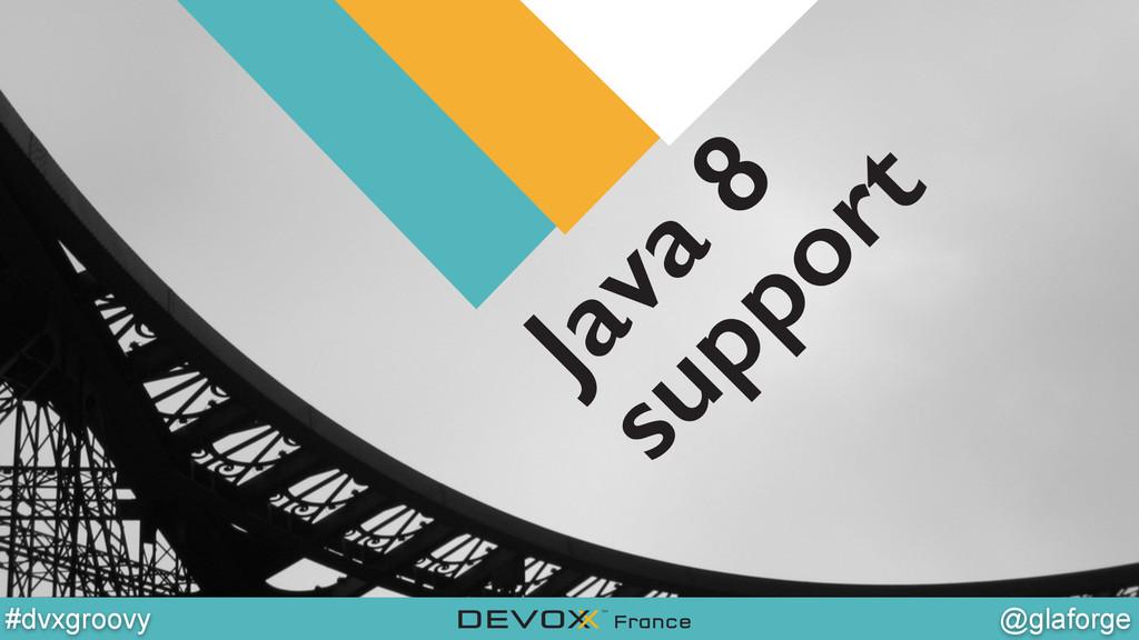 @YourTwitterHandle @glaforge #dvxgroovy Java 8 ...