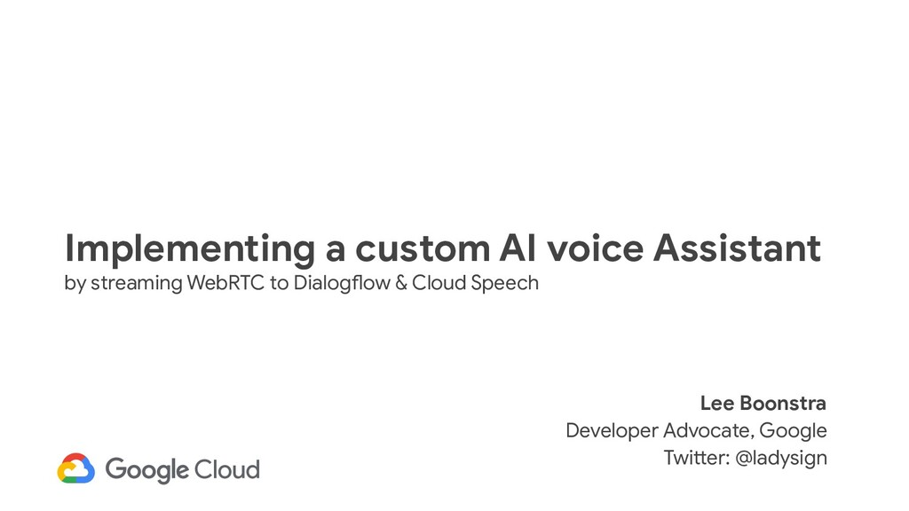 Implementing a custom AI voice Assistant by str...