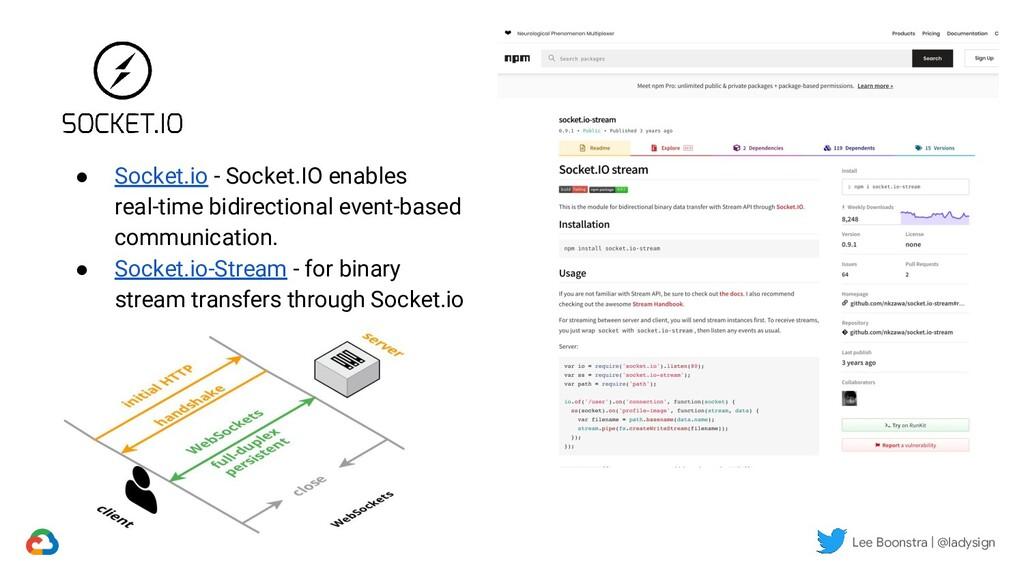 ● Socket.io - Socket.IO enables real-time bidir...