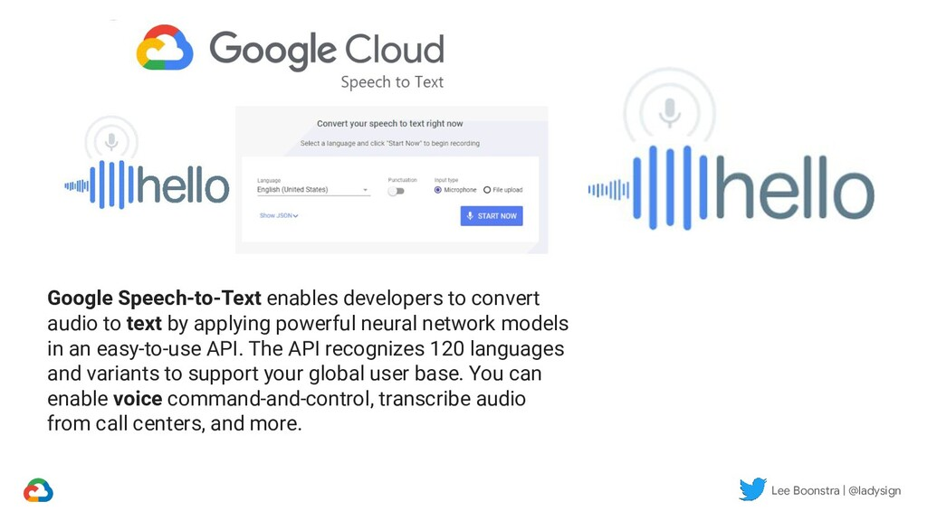 Lee Boonstra | @ladysign Google Speech-to-Text ...
