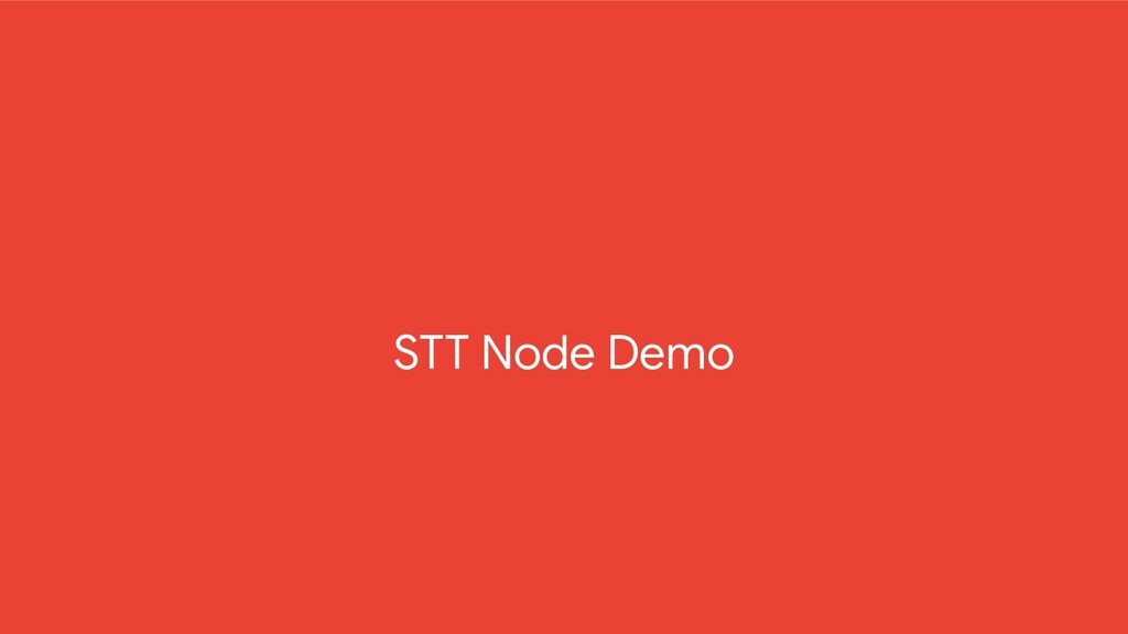 STT Node Demo