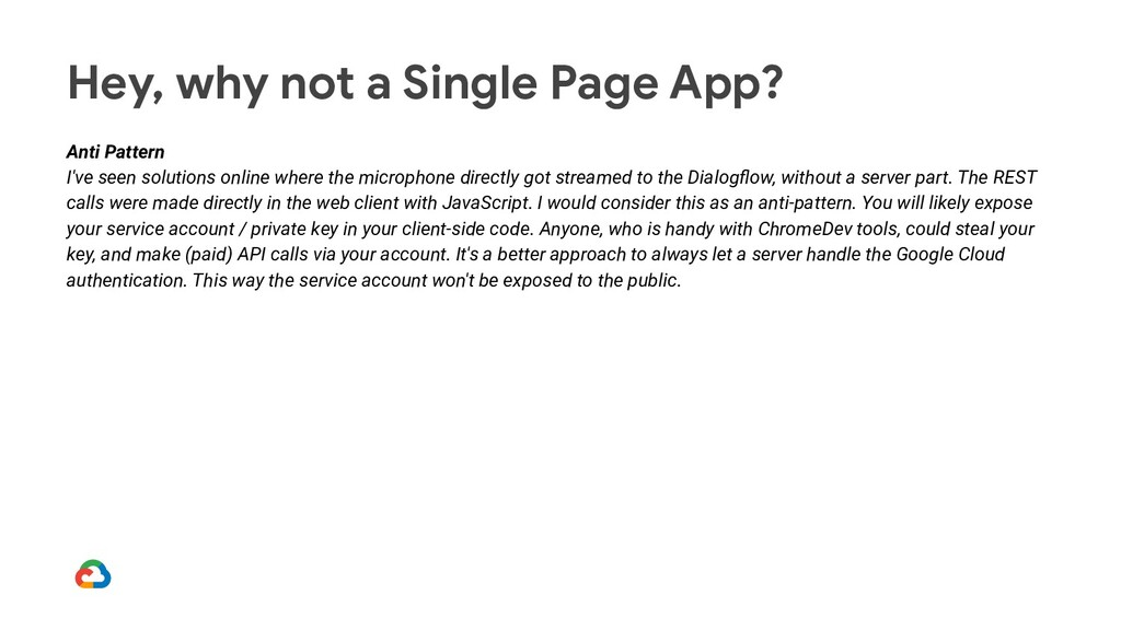 Hey, why not a Single Page App? Anti Pattern I'...