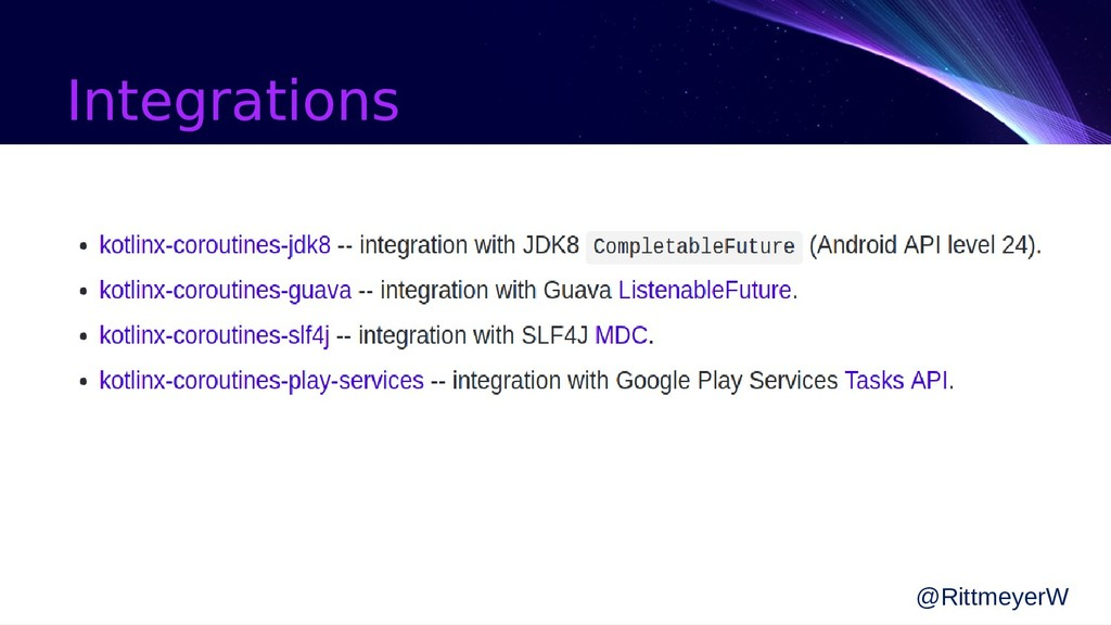 Integrations @RittmeyerW