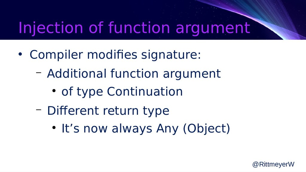 Injection of function argument • Compiler modif...