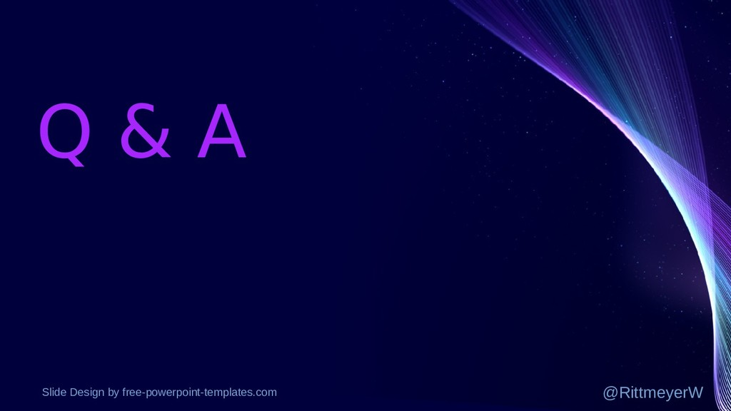 Q & A Slide Design by free-powerpoint-templates...