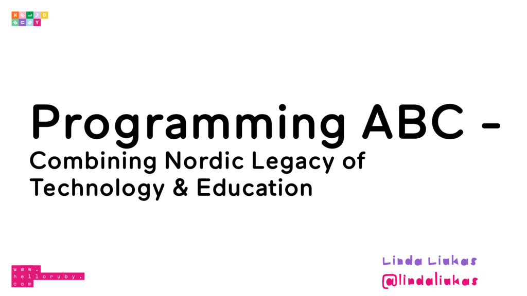 Programming ABC - Combining Nordic Legacy of Te...