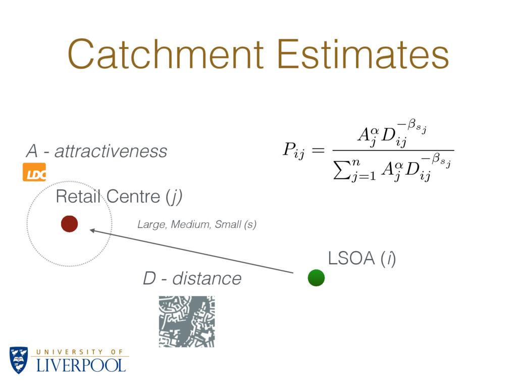 Catchment Estimates LSOA (i) A - attractiveness...