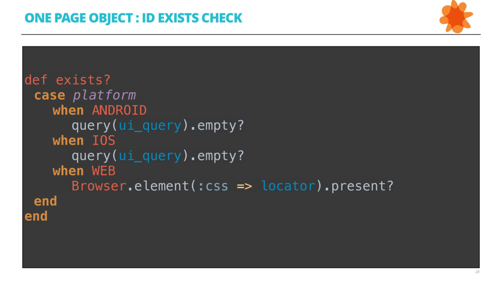 28 ONE PAGE OBJECT : ID EXISTS CHECK  def exis...