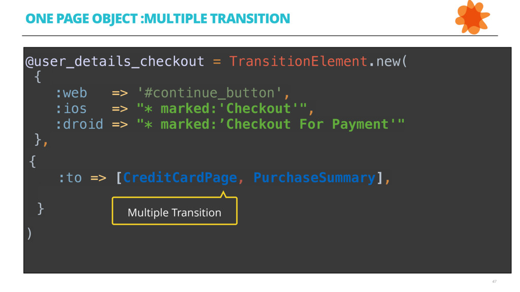 47 ONE PAGE OBJECT :MULTIPLE TRANSITION @user_d...