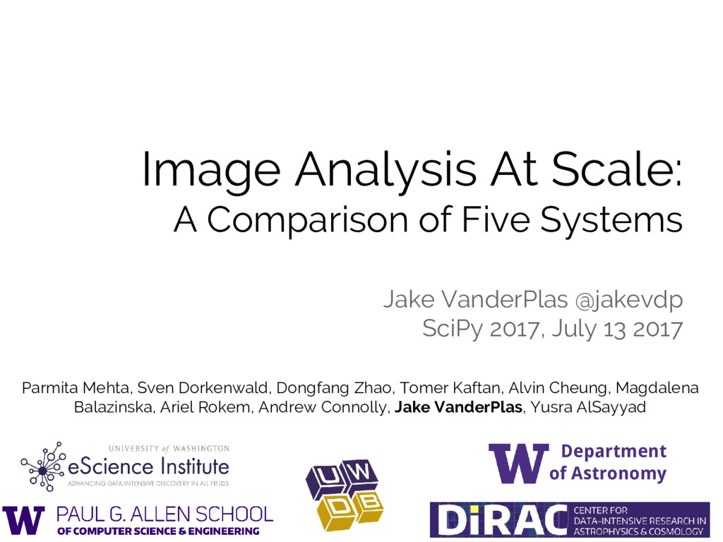Image Analysis At Scale: A Comparison of Five S...