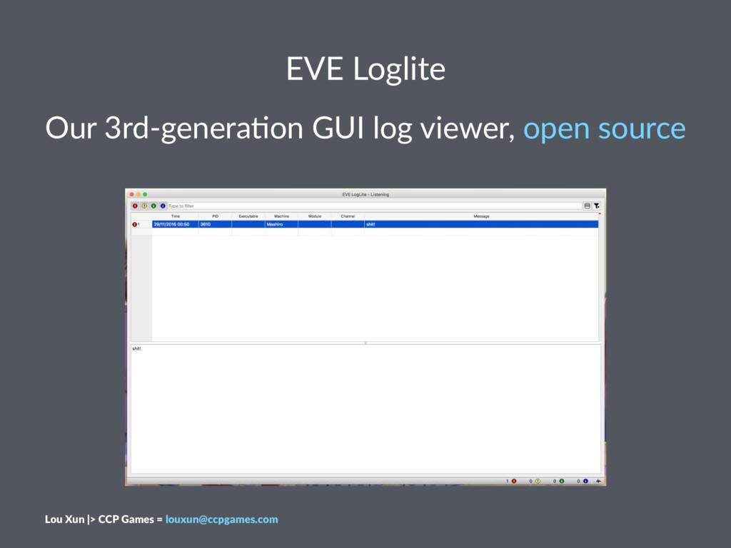 EVE Loglite Our 3rd-genera,on GUI log viewer, o...