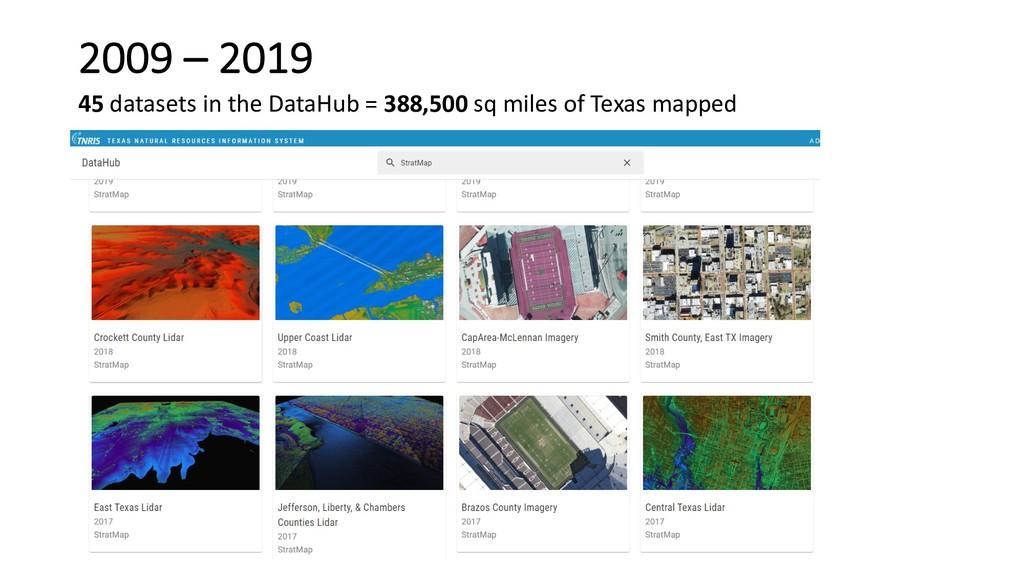 45 datasets in the DataHub = 388,500 sq miles o...