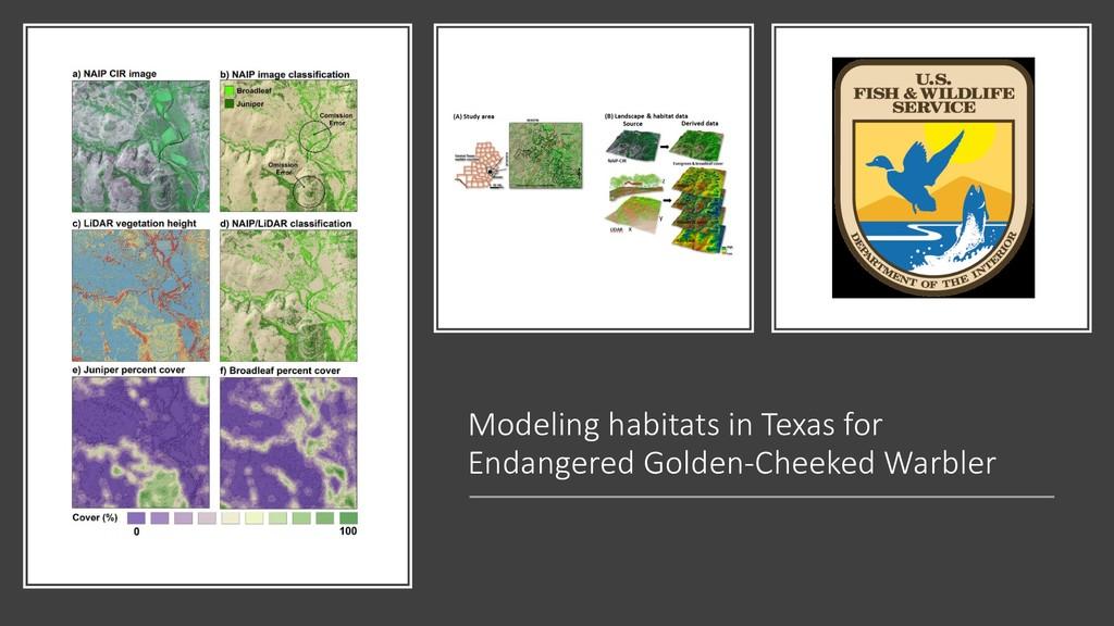 Modeling habitats in Texas for Endangered Golde...
