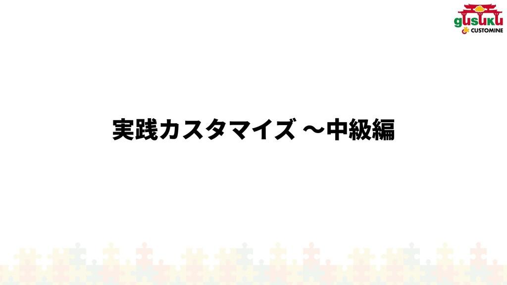 実践カスタマイズ カスタマイズ 〜入門編中級編