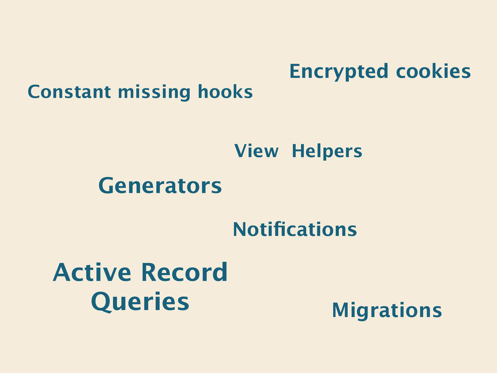 Encrypted cookies Active Record Queries View He...