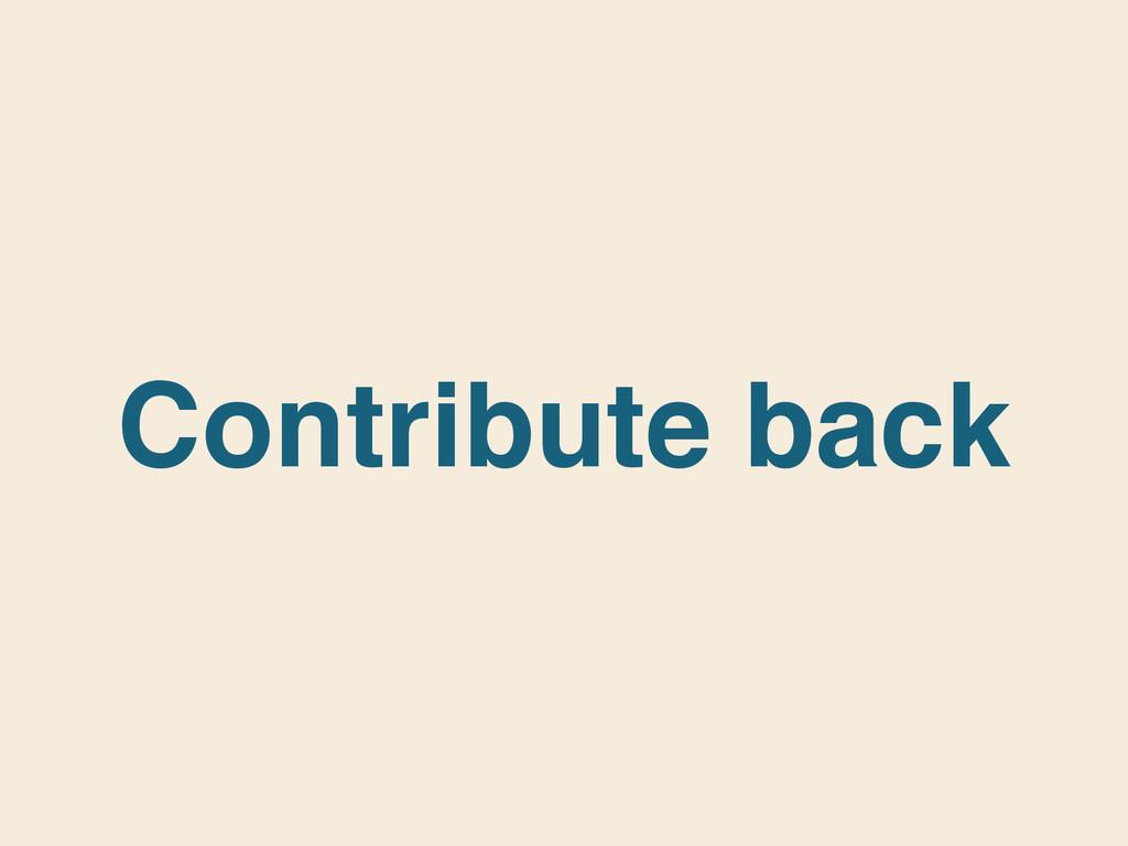 Contribute back