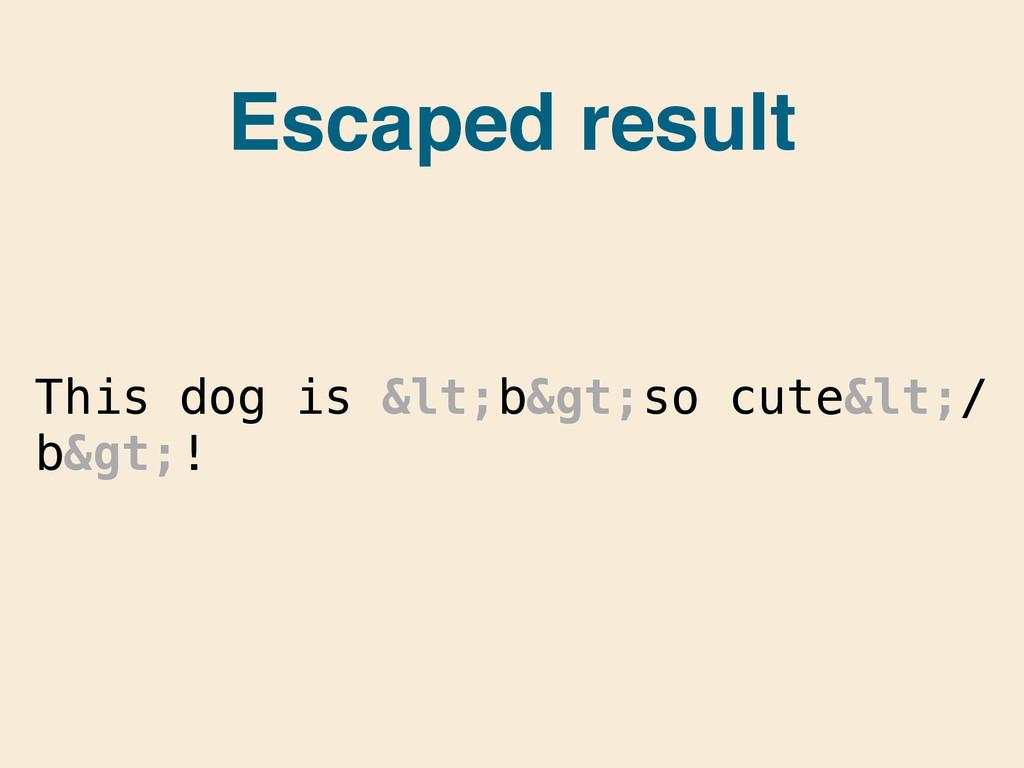 This dog is <b>so cute</ b>! Escape...