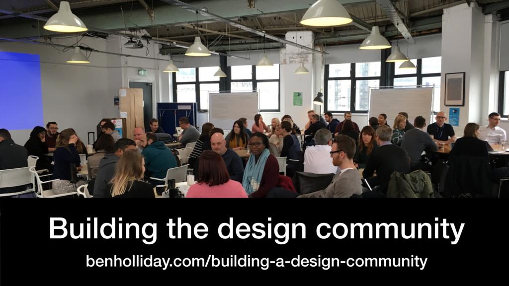 @benholliday #govdesign Building the design com...