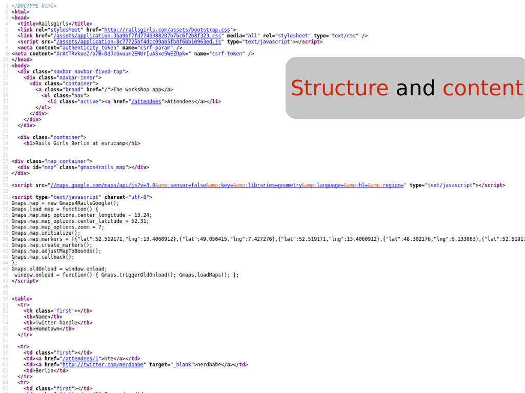 Structure and content